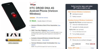 Verizon HTC-Droid-DNA-Amazon