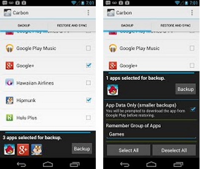 carbon android app