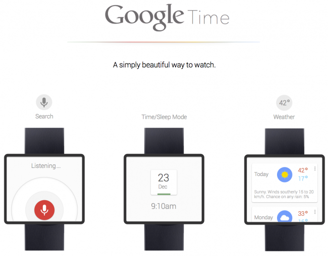 google time smartwatch