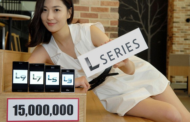 lg optimus l series 15 milllion