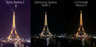 sony xperia z vs galaxy note 2 vs nexus 4 night