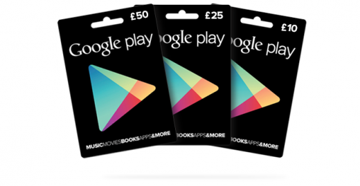 Google-Play-Gift-Cards In UK