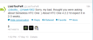 jelly bean 4.2 for htc one