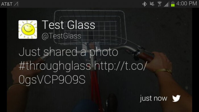 google glass facebook twitter apps
