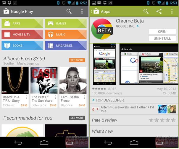 play store new version