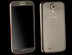 galaxy s4 gold plated luxurious android phone