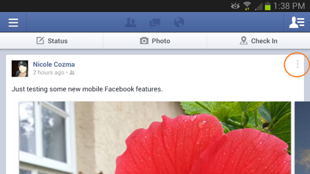 facebook privacy android app