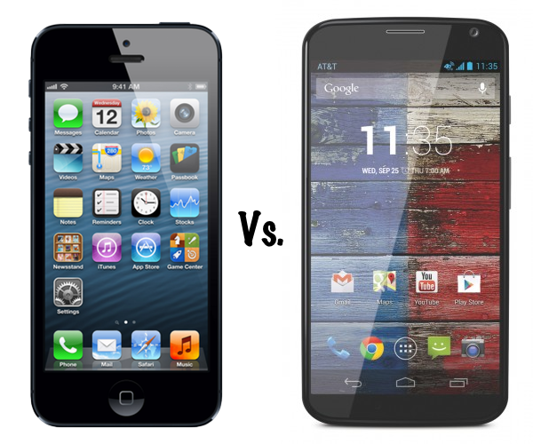 Moto X vs iPhone 5