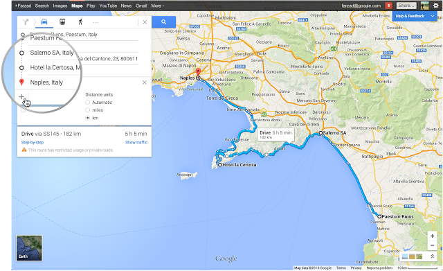 Get directions for multiple destinations