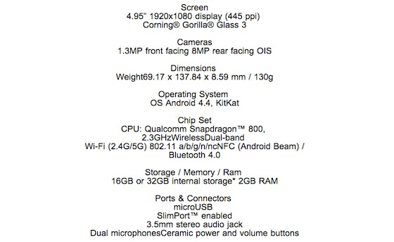 http://www.theverge.com/2013/10/28/5039968/nexus-5-specs-leaked-by-canadian-carrier-wind-mobile