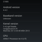 details unofficial cm 11 on xperia m