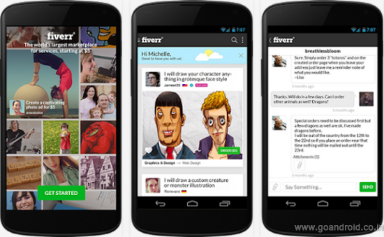 fiver android app