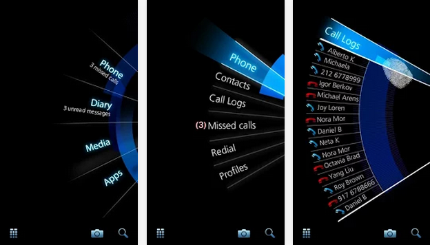 splay launcher manage phone with single hand