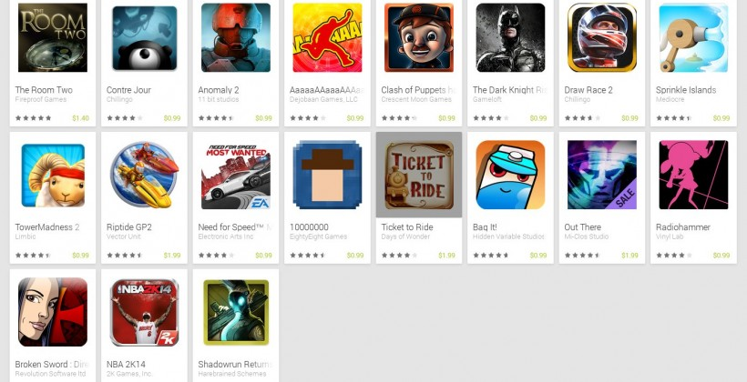 google play store spring sale