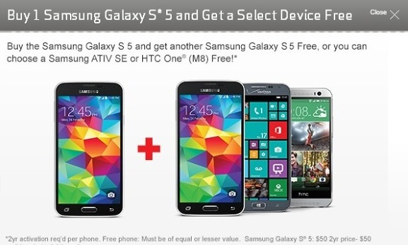 Pre Orders for galaxy S5 on Verizon Now Begin