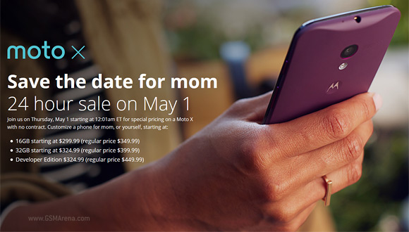 Get discount on Moto X Devices on May 1