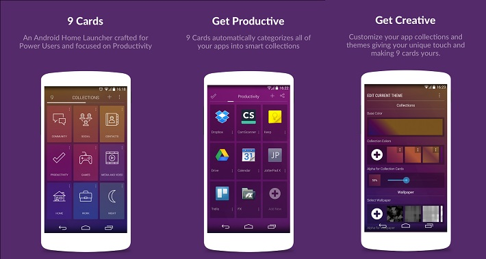 9 cards android app