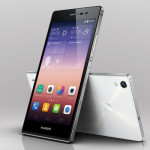 huawei ascend p7 back and front black