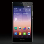 huawei ascend p7 front black
