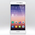 huawei ascend p7 front white
