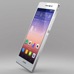 huawei ascend p7 white side