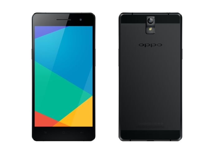 oppo r3 black front and back