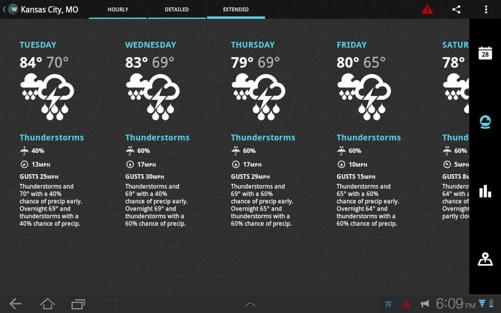 1 weather best weather android app 2014