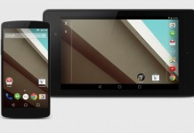 nexus 5 and nexus 7 2012 lollipop