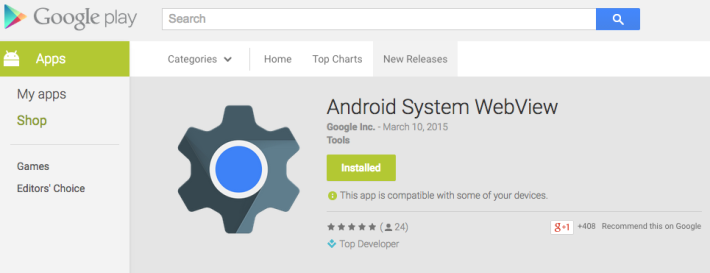 Google WebView App Leaves Beta; Make Presence on Play ...