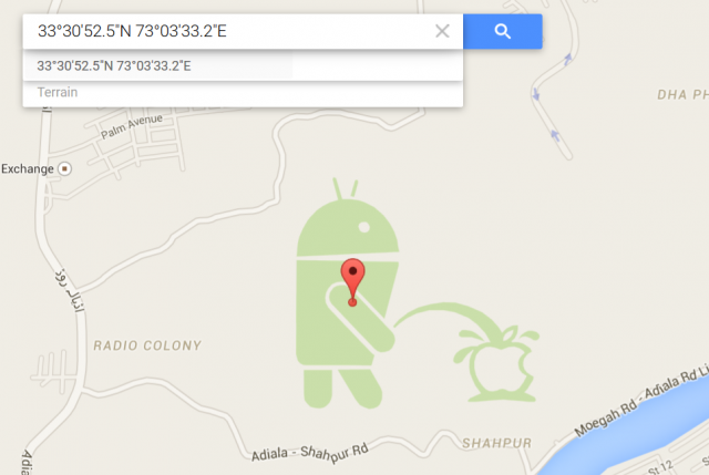 google maps android pissing