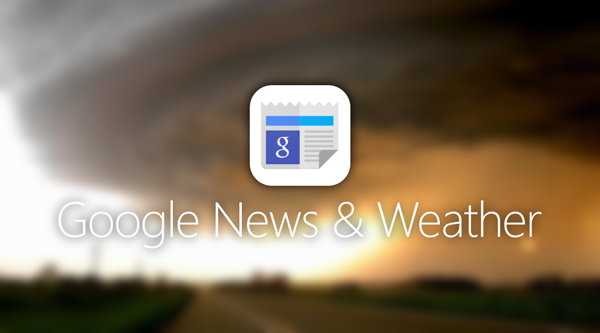 google weather and news