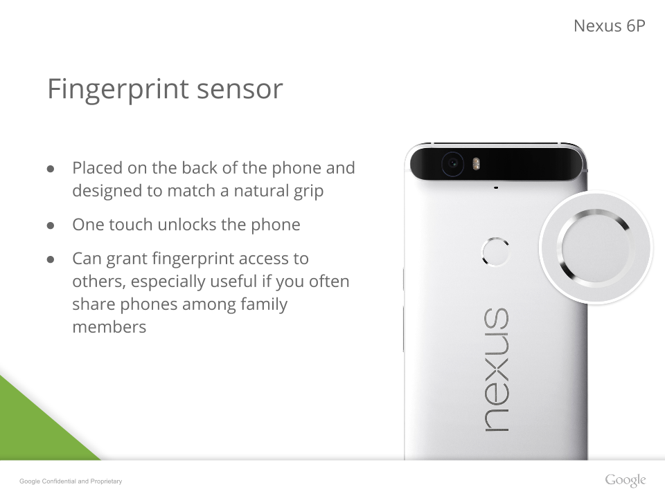 nexus 6p fingerprint scanner
