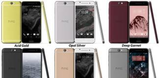 htc one a9 renders colors
