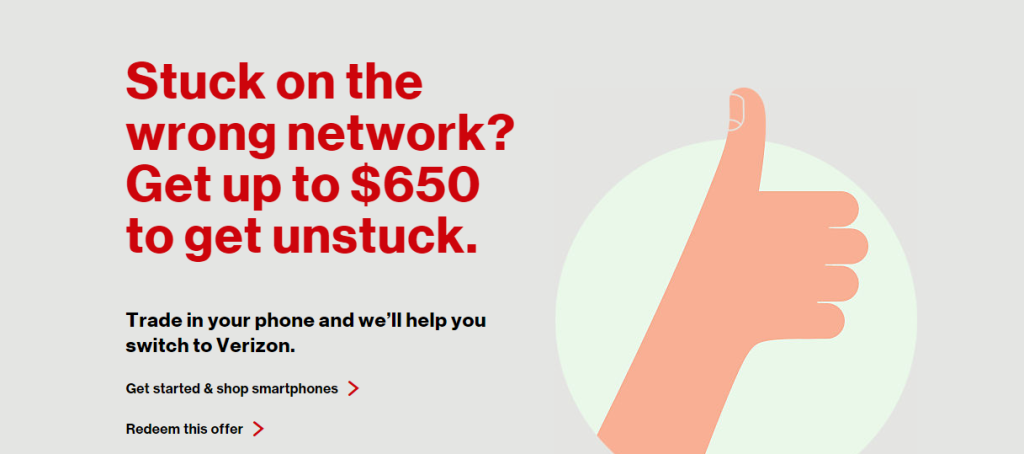 verizon $650 offer