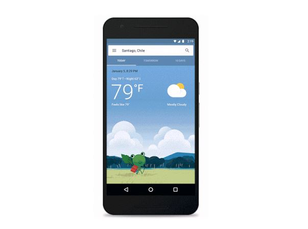 new google weather card