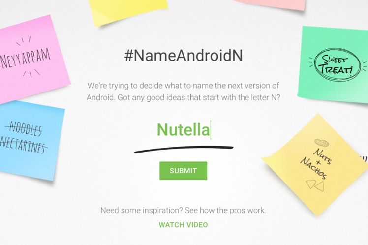 android n name google io 2016