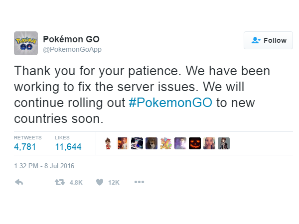 Pokemon-Go rollout halted