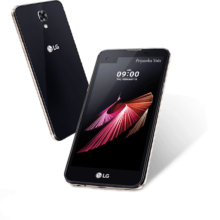 LG X screen Front and Back