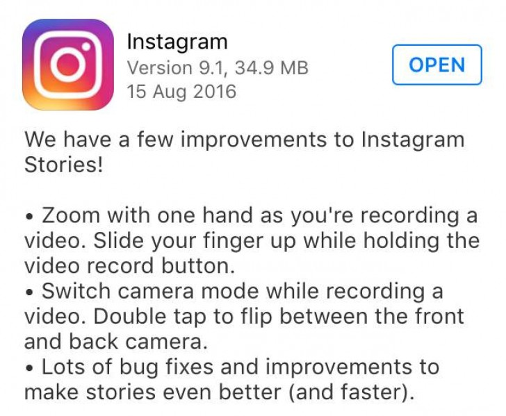 Instagram adds double tap to switch camera in video and swipe to instagram in its latest update rolling out a few new features in its app namely swipe to zoom and double tab to switch the camera while shooting a video ccuart Images