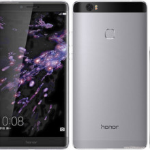 Huawei Honor Note 8 front back side in grey