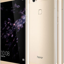 Huawei Honor Note 8 front back side in gold