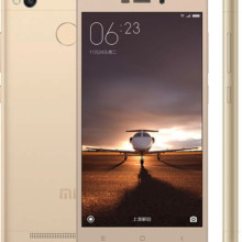 Xiaomi Redmi 3s in gold front back side