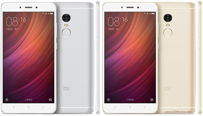 Xiaomi Redmi Note 4 front and back