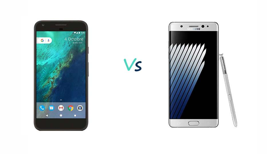 Google Pixel XL vs Samsung Galaxy Note 7