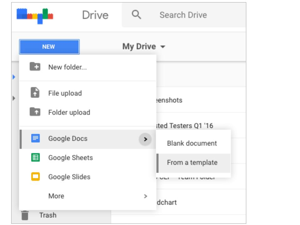 Create file directly from templates in google drive for Google drive newspaper template