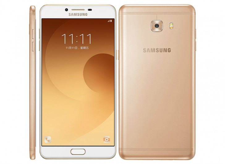 Samsung Galaxy C9 Pro front, back and side