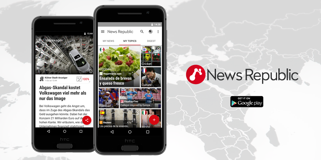 NewsRepublic flipboard news reader android