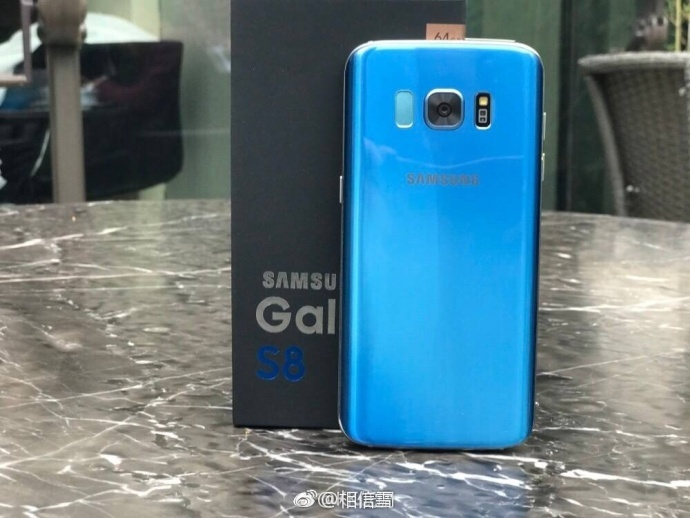 Galaxy s8 coral blue back