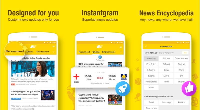 uc news reader app india