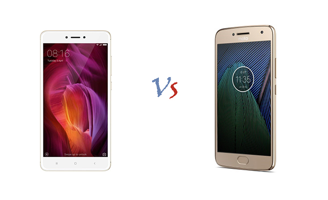 Xiaomi Redmi Note 4 vs Motorola Moto G5 Plus